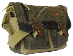 Chicago Student Casual Laptop Canvas Messenger Bag at Serbags
