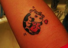 Happy cow tattoo! I need something like this after working with cows for over 8 years!
