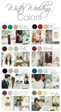 Winter Wedding Color Ideas #ChristmasWeddingIdeas
