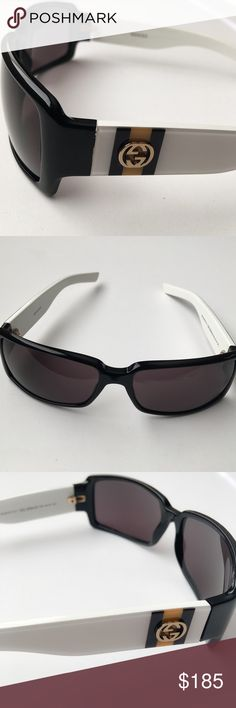 GUCCI Sunglasses GG 2564/S GUCCI GG Logo sunglasses with white temples and yellow/ black stripe. GG 2564/S Immaculate condition! Gucci Accessories Sunglasses