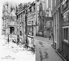 Enge Kerksteeg, Amsterdam Anton Pieck, Amsterdam Art, Kunst