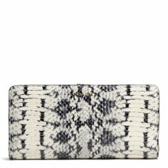 Coach :: MADISON SKINNY WALLET IN TWO TONE PYTHON EMBOSSED LEATHER