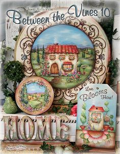 Between the Vines Painting Pattern Book - By:Jamie Mills-Price -Dated Decorative Painting Projects, Tole Decorative Paintings, Tole Painting Patterns, Fabric Painting, Painting On Wood, Acrylic Paintings, Painted Books, Hand Painted, Primitive Painting