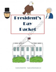 Presidents Day Literacy & Math Packet product from Fantastic-First-Grade-Fun on TeachersNotebook.com
