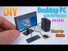 DIY Realistic Miniature Desktop PC with LED Widescreen Monitor | DollHouse | No Polymer Clay! - YouTube