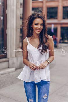 Krásny biely dámsky top na ramienkach Camisole Top, Tank Tops, Women, Fashion, Moda, Halter Tops, Fashion Styles, Fashion Illustrations, Woman