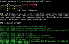 sqlmap: automatic SQL injection and database takeover tool Web Safety, Sql Injection, Computer Security, Linux, Web Development, Software, Hacks, Cyber, Learning