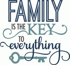 Silhouette Design Store - View Design #60295: family is the key - phrase