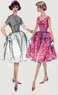 1960s Vintage Sewing Pattern McCalls 5417