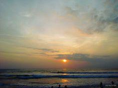 Sunset in the beach, kuta bali