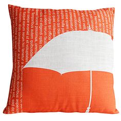 Country Umbrella Cotton/Linen Decorative Pillow Cover – USD $ 12.99