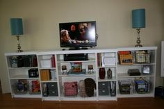 entertainment center - billy bookcase ikea