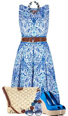 """""""Blue Wedges"""" by lmm2nd on Polyvore"""
