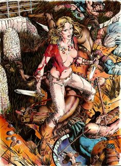 Original Comic Art titled Valeria of the Red Brotherhood recreation after Barry Windsor Smith's 1975 Robert E. Howard Portfolio, located in Roland's Recreations Comic Art Gallery Comic Book Artists, Comic Artist, Comic Books Art, Marvel, Conan O Barbaro, Pinup, Heavy Metal Art, Conan The Barbarian, Windsor Smith