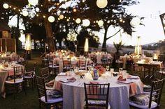 Outdoor Wedding Location, blankets