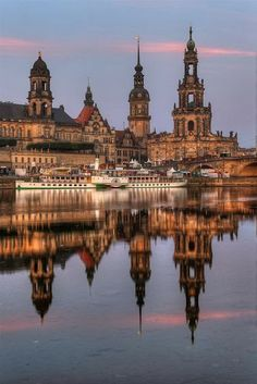 Dresden, Germany - Dresden is the capital city of the Free State of Saxony in Germany. It is situated in a valley on the River Elbe, near the Czech border.