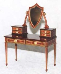 "Artisan handcrafted  Dressing Table - Dollhouse Miniature 1"" Scale 1:12"