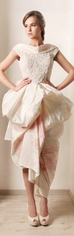 Hand painted wedding dress by rami kadi