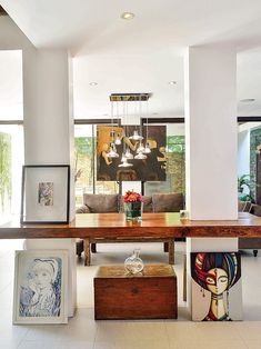 Simple, airy, and spacious-this two-storey property is filled with art, a variety of collections, and happy memories