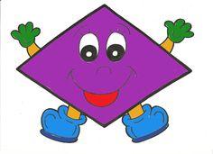Dimond in purple Kids Math Worksheets, Preschool Printables, Preschool Math, Kindergarten Math, Maths, Math For Kids, Craft Activities For Kids, Preschool Activities, Alphabet Letter Crafts