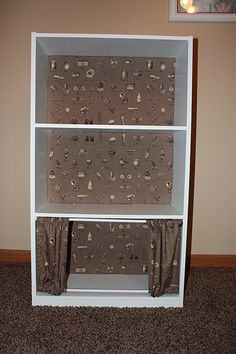 fabric panels to baby proof your bookshelf by pattern shmattern baby proof pinterest babies book shelves and shelves - Child Proof Bookshelves