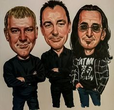 Shop for heavy metal music artwork and designs from the world's greatest living artists. All heavy metal music artwork ships within 48 hours and includes a money-back guarantee. Great Bands, Cool Bands, Rush Band, Geddy Lee, Neil Peart, Celebrity Caricatures, Funny Caricatures, Music Artwork, Metal Artwork