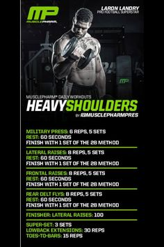 MusclePharm Heavy Shoulders                                                                                                                                                                                 More
