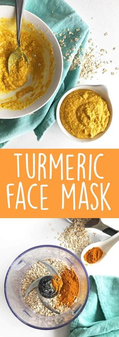 DIY Turmeric Face Mask: Bursting with amazing benefits, this homemade face mask will leave your skin moisturized. It also treats acne and reduces the appearance of scars and dark spots.   karissasvegankitchen.com   Face Mask for Acne via @karissasvegankitchen
