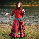 Damen Übergrössen Röcke,A-Linie DruckLässig/Alltäglich Boho Mittlere Hüfthöhe Midi Elastizität Polyester / Others Unelastisch Herbst 2017 - €61.73