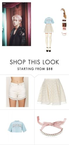 """""""hanging with Jin"""" by unicorn-923 ❤ liked on Polyvore featuring Free People, Opening Ceremony, MSGM and Giuseppe Zanotti"""