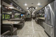 This Luxury RV Is Basically a Palace on Wheels - Interior Design Ideas & Home Decorating Inspiration - moercar Source by Decor luxury Tour Bus Interior, Motorhome Interior, Interior Design, Interior Ideas, Luxury Motorhomes, Rv Motorhomes, Luxury Caravans, Luxury Bus, Luxury Homes
