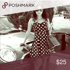 Black and white polka dot dress. Cute black and white polka dot dress in great condition. Very classic! Only worn twice! marilyn monroe Dresses
