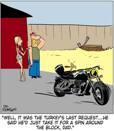 On The Biker Side Motorcycle Cartoon - November 2012