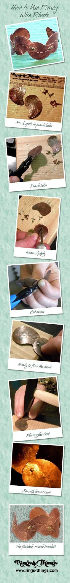 Fancy Wire Rivet Tutorial from Rings & Things