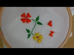 Hand Embroidery: Butterfly Flower Stitch - YouTube