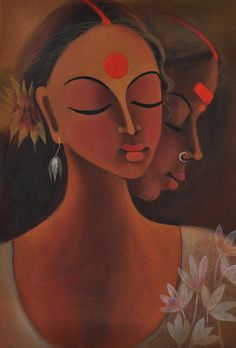 Painting Painting - Me Within by Manisha Raju