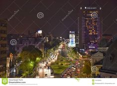Bucharest night scene with Magheru boulevard. Photo about panoramic, famous, high, intercontinental, panorama, architecture, important, crowd - 105782604