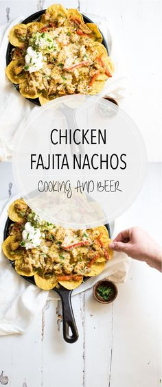 You can quickly elevate nachos with a few simple ingredient substitutions. These chicken fajita nachos are perfect for game day and are the perfect bites!