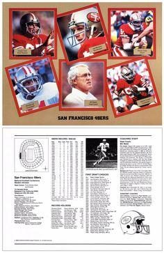 "1983 NFL Fan Pack NNO (8.5""x11"" Card) (w/ Dwight Clark, Joe Montana, Randy Cross, Ronnie Lott, Bill Walsh, Keena Turner)"
