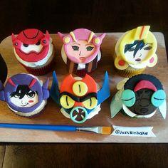 """Big Hero 6 cupcakes #artmeetsbaymax #bighero6 #cake"""