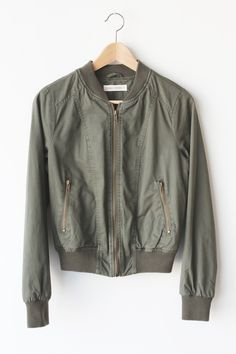 - Details - Size - Shipping - • Shell 100% Cotton Lining 100% Polyester Contrast 99% Polyester 1% Spandex • Military inspired bomber jacket with functional pockets and zippers • Hand Wash • Line dry •