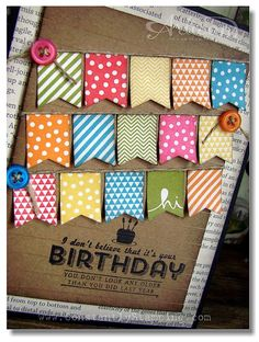 Constantly Stamping: Leadership 22 - Banner Birthday Card