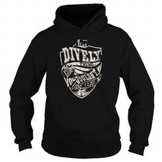 Cool DIVELY Last Name, Surname Tshirt T shirts