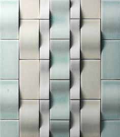 Metal tile by the Tile Gallery of Chicago. Vertical applications only. For light commercial and residential interiors. Pattern Texture, 3d Texture, Tiles Texture, Texture Design, Tile Accent Wall, Wall Tiles, Wall Patterns, Textures Patterns, Wall Textures