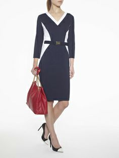 Thoroughly modern with strategic colorblocking. Doncaster.com-PLOOK03-141