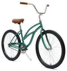 Critical Cycles Women's Beach Cruiser 1-Speed Bike, British Racing Green http://coolbike.us/product/critical-cycles-womens-beach-cruiser-1-speed-bike-british-racing-green/