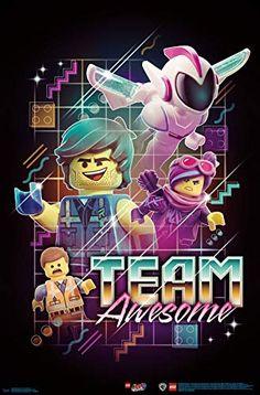 Trends International Lego Movie 2 - Team Awesome Wall Poster, x Unframed Version Lego Batman Movie, Batman Batman, Batman Logo, Minecraft Pixel Art, Minecraft Skins, Minecraft Buildings, La Grande Aventure Lego, Toddler Arts And Crafts, Lego Stormtrooper