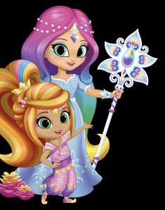 Leah and Imma Princess Party, Princess Peach, 8th Birthday, Birthday Parties, Girls Rolling Backpack, Unicorn Wallpaper Cute, Blue Nose Friends, Favorite Cartoon Character, Shimmer N Shine