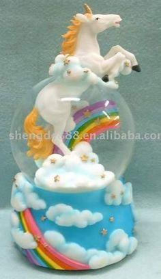 100mm Horse on the Cloud Musical Water Globe (100mm Лошади на облаке Вода Музыкальный глобус)