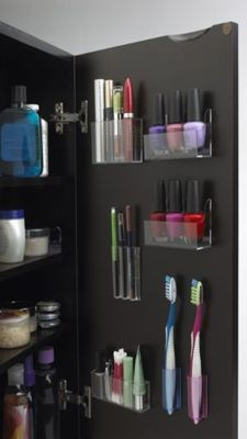 Use all the space in the medicine cabinet